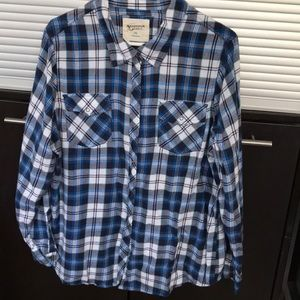 Arizona XXL (14) soft flannel snap—up top
